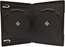 25 Standard 14mm Double DVD Cases, Black, Premium Grade, 2 Disc DVD Cases, WB