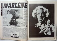 MARLENE DIETRICH : 4  pages 1984 french clipping !!! Coupure de presse !!!