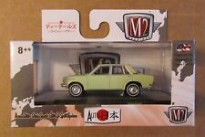 M2 Machines Auto-Japan 1969 NISSAN BLUEBIRD 1600 SSS ~ Light Green ~ 1:64 ~ NIP