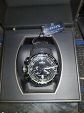Edox Men's Chronorally Swiss Chronograph Black Watch 10305