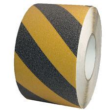 Antirutschband 100mm x 18m Schwarz Gelb Antirutschbelag Selbstklebend R13