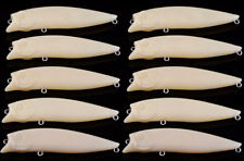 LOT 10 Unpainted Popper Blank Fishing Lure Bait 3 1/2 Inch 1/3 Oz Wholesale