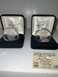 Kobe Bryant /Kevin Garnett Highland Mint  coin medallion + Kobe Real Silver!