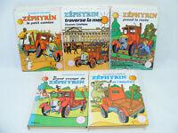Lot de 5 livres ZÉPHYRIN d'Elizabeth CHAPMAN Bibliotheque rose 60's/70's
