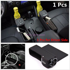PU Car Seat Catcher Gap Filler Storage Box Coin Collector Cup Holder For Driver