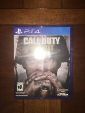 Play Station CALL OF DUTY WWII World War 2 video game Sony PlayStation PS 4 2017