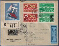 "Svizzera - 1935 -  ""ALPAR BERNE VOLS AU DESSUS DES ALPES"" - da Berna"