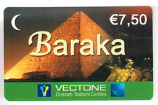 FRANCE  TELECARTE / PHONECARD  PREPAYEE .. VECTONE 7€50 EGYPTE EGYPT PYRAMIDE