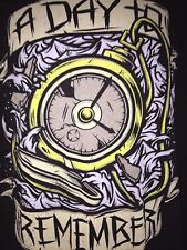 A DAY TO REMEMBER CLOCKED OUT MEDIUM T-SHIRT  ROCK OUT OF PRINT METALCORE