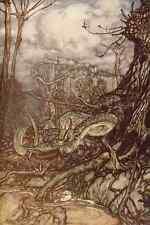A4 photo arthur Rackhams 23 le dragon vert imprimé poster