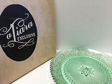 "Tiara Indiana Chantilly Green Sandwich Glass 12"" Tray Chop Plate"