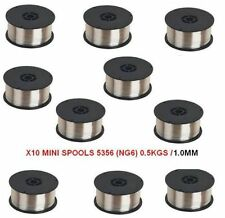 BULK BUY X10 MINI SPOOLS / Aluminium Mig Welding Wire 5356 - 0.5 kg x 1.0MM