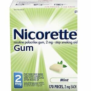 Nicorette 2mg Nicotine Gum to Quit Smoking - Mint, Stop Smoking Aid, 170 Count