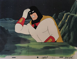 Space Ghost Original Production Cel w/Matching Original Production Drawing