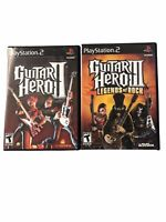 Guitar Hero 2 & 3 Legends of Rock Sony PS2 Play Station 2 Complete with Booklets