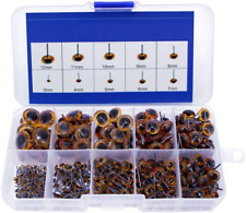 100pcs Amber Glass Eyes Kits For Needle Felting Bears Dolls Decoys Sewing NEW