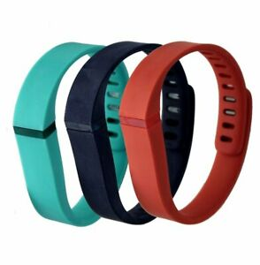 J6 Fitbit -Blue-teal-tangerine Flex Activity And Sleep Wristband Pack Large