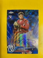7844  2018 Topps Chrome Rookie Autographs Blue Wave Refractors Raudy Read #/150