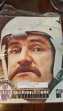 1975-76 NORDIQUES @ OILERS WHA PROGRAM COVER SIGNED BY JC JEAN CLAUDE TREMBLAY