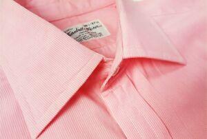 Turnbull & Asser 14.5 Pink Striped Dress Shirt MADE IN ENGLAND
