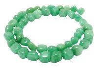 😏 Grüner Aventurin Perlen Nuggets ca. 8-10mm Edelsteinperlen Strang für Kette😉