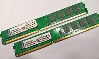 8GB NEW KINGSTON Ram (2x4GB sticks) PC3-12800U /DDR3-1333 or 1600MHz USA Seller!