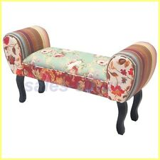 Chaise Longue Bench Seat Window Stool Accent Sofa Bed Hallway Vintage Furniture