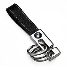 BMW 3-Ring Keychain OEM Leather Key Fob 80232209854