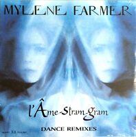 VINYLE MAXI 12'' MYLENE FARMER L'AME-STRAM-GRAM DANCE REMIXES NEUF SOUS BLISTER