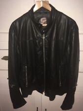 Mens Black Hugo Boss Leather Jacket (40 Chest)