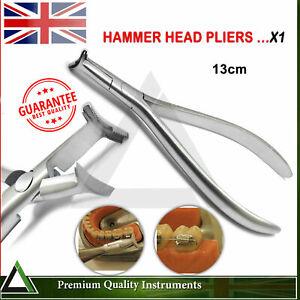 Orthodontic Pliers Hammer Head Distal Cinch Back Tie NiTi Wire Bending Dental