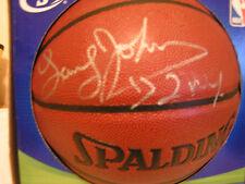 new york knicks Larry Johnson autographed N.B.A. spalding ball in original box