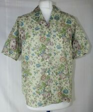 Liberty Of London Pale Green,Blue,Floral Cotton Shirt Sleeved Blouse UK 12