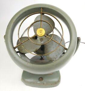 MCM Vornado Electric Desk Fan Model D16C1 WORKS! 2 Speed Mid Century Art Deco