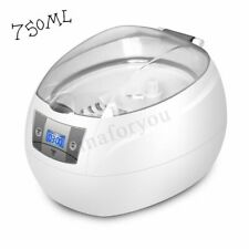 750ml Ultrasonic Cleaner Jewelry Silver Digital Glass Watches Timer Washer