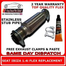 seat ibiza exhaust flexi flex cat catalyst repair pipe 1.4i  stainless steel