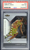 2004-05 Topps Finest LeBron James PSA 10 #23 2nd Year Card Lakers Gem Mint Cavs