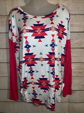 Pink Owl Aztec Size Small Blouse Back To School Ready