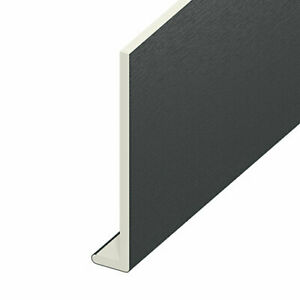 1m / 1.25m UPVC Anthracite Grey Capping Board 9mm Soffit Fascia