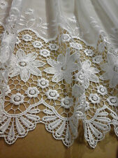 Beautiful white macrame on white voile made to size (1472)