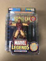 Marvel Legends Iron Man Series 1 Yellow Suit Figure Toy Biz NEW w mini poster