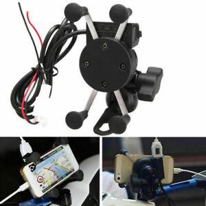 Mobile Halterung Ladegerät 360 Rotation Funktion Motorrad USB-Gerätehalter H
