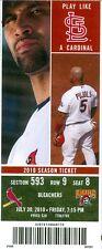 2010 Cardinals vs Pirates Ticket: Brendan Ryan broken-bat infield hit in 10th