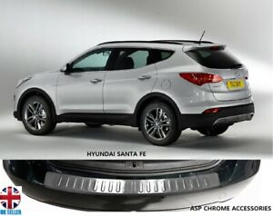 2012 > Hyundai Santa Fe Chrome Rear Bumper Sill Protector Scratch Guard S.Steel