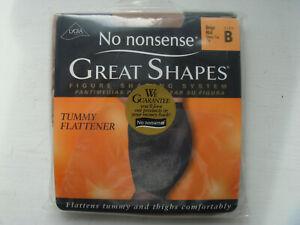 No Nonsense Great Shapes Size B Pantyhose Sheer Toe Tummy Flattener New Unopened