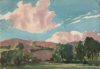 GEORGE GRAINGER SMITH Painting LONG MYND CHURCH STRETTON SHROPSHIRE c1930
