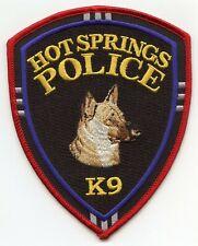 HOT SPRINGS ARKANSAS AR K-9 POLICE PATCH