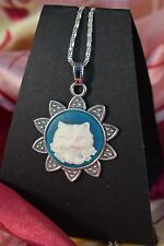 SPECIAL SAVE 50p./ CUTE KITTY  CAMEO NECKLACE  [2/12/237]
