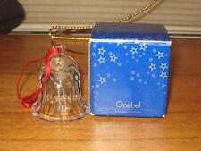 Goebel Bell W/ Box Christmas Ornament W/ Red Satin Hanger