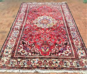 Authentic Hand Knotted Vintage Perser GHAZVIN Rug (277 cm x 163 cm)